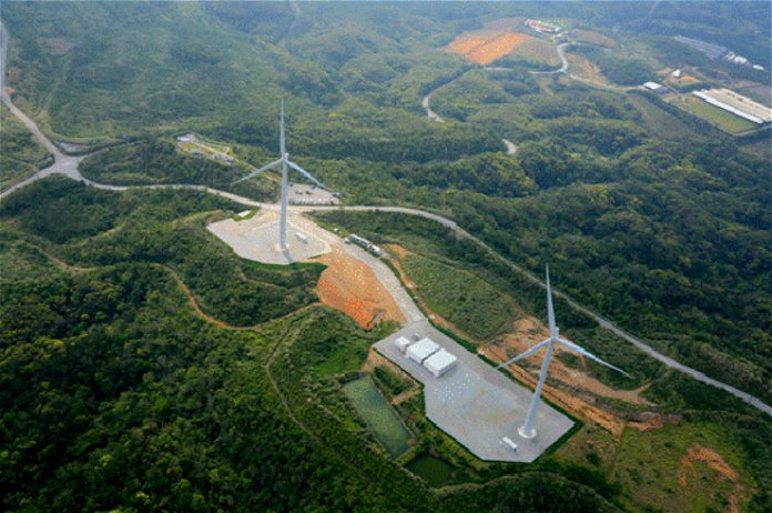 沖縄電力が大宜味風力発電実証設備の運転を開始